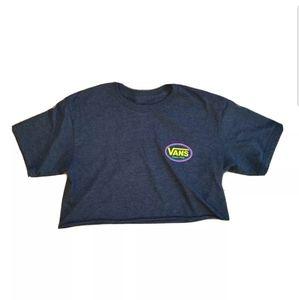 Vans Since 1966 Surf Supply Crop Short Sleeve Gray T-Shirt Women's Small Bin11